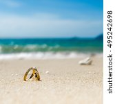 honeymoon on tropical island ...   Shutterstock . vector #495242698