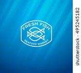 seafood market logo. line logo... | Shutterstock .eps vector #495245182