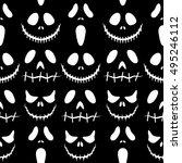 halloween background.seamless... | Shutterstock .eps vector #495246112