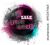 black friday sale colorful... | Shutterstock .eps vector #495247465