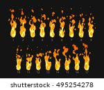 sprite sheet of fire  torch ... | Shutterstock .eps vector #495254278