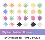 stylized colorful vector design ... | Shutterstock .eps vector #495259336