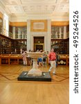 Small photo of LONDON, ENGLAND - JUL 24, 2016: Interior of the British Museum, Bloomsbury area, London. It was established in 1753