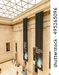 Small photo of LONDON, ENGLAND - JUL 24, 2016: Large atrium of the British Museum, Bloomsbury area, London. It was established in 1753