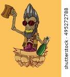 zombie vector. monster in... | Shutterstock .eps vector #495272788
