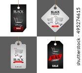set of black friday labels ... | Shutterstock .eps vector #495274615