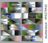 set of modern banners. abstract ... | Shutterstock .eps vector #495275932