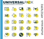 set of 25 universal icons on... | Shutterstock .eps vector #495276592