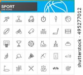 sport line icons set  outline... | Shutterstock .eps vector #495277012