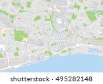 vector city map of kingston... | Shutterstock .eps vector #495282148