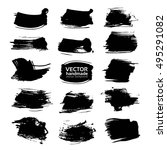 textured black strokes vector... | Shutterstock .eps vector #495291082