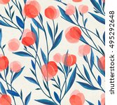 seamless floral pattern on... | Shutterstock . vector #495292648