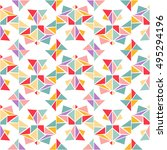 vector colorful geometric... | Shutterstock .eps vector #495294196