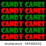 candy canes | Shutterstock . vector #495300532