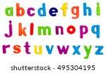 plastic multi coloured plastic...   Shutterstock . vector #495304195