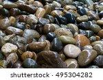 rain falling on rocks. | Shutterstock . vector #495304282