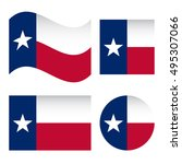 texas flag  different shapes... | Shutterstock .eps vector #495307066