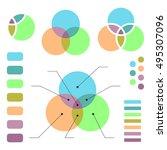 venn diagram with note lines ... | Shutterstock .eps vector #495307096