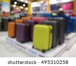 abstract blur suitcases and... | Shutterstock . vector #495310258