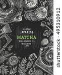 japanese tea ceremony. tea... | Shutterstock .eps vector #495310912