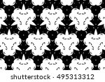 ornament with elements of black ... | Shutterstock . vector #495313312