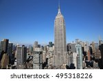 empire state clear sky picture... | Shutterstock . vector #495318226