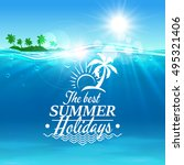 summer holiday vector poster.... | Shutterstock .eps vector #495321406