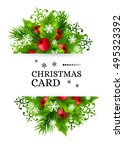 christmas banners with fir... | Shutterstock .eps vector #495323392