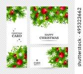 christmas banners with fir... | Shutterstock .eps vector #495323662