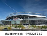 Small photo of DENVER, CO, USA - October 8. 2016: Sports Authority Field at Mile High Stadium is the home of the Denver Broncos NFL football team.