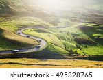 Scenic Serpentine Road With...
