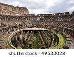 Colloseum -The Flavian Amphitheater in Rome, Italy - stock photo