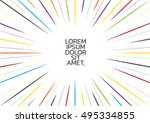 speed comic space frame for... | Shutterstock .eps vector #495334855