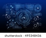 innovative networking interface ... | Shutterstock . vector #495348436