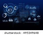 innovative networking interface ...   Shutterstock . vector #495349648