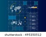 digital user interface . mixed... | Shutterstock . vector #495350512