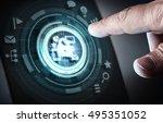 user digital display . mixed... | Shutterstock . vector #495351052