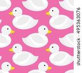 seamless duck pattern vector   Shutterstock .eps vector #495363076