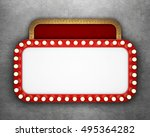 retro cinema banner on concrete ... | Shutterstock . vector #495364282