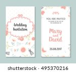 wedding set. romantic vector... | Shutterstock .eps vector #495370216