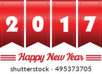 2017 annual year vector. happy... | Shutterstock .eps vector #495373705
