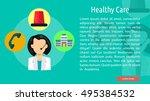 healthy care conceptual banner | Shutterstock .eps vector #495384532
