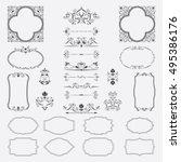 big set of beautiful frames ... | Shutterstock .eps vector #495386176