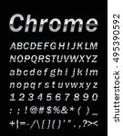 chrome letter set  | Shutterstock .eps vector #495390592
