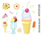 desserts | Shutterstock .eps vector #49539328