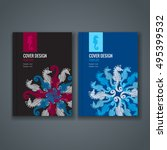 brochure template layout. cover ... | Shutterstock .eps vector #495399532