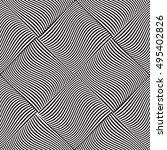 black and white geometric... | Shutterstock .eps vector #495402826