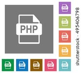php file format flat icon set... | Shutterstock .eps vector #495406798