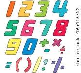 vector set of number | Shutterstock .eps vector #495416752