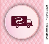 delivery sign icon  vector... | Shutterstock .eps vector #495418825
